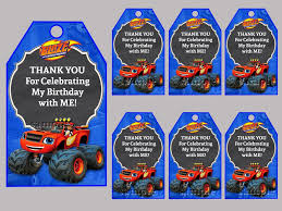 Blaze And The Monster Machines Thank You Card Personalized Etsy