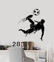 Vinyl Wall Decal Soccer Game Sport Player Ball Boy Silhouette Stickers 3377ig Vinyl Wall Decals Vinyl Chairs Boy Silhouette