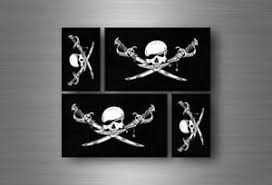 4x Sticker Flag Car Motorcycle Decal Bumper Vinyl Adhesive Pirate Bethren Ebay