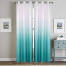 Amazon Com Turquoise Curtians For Living Room 2 Panels Insulated Teal Curtains 84inches Length Faux Linen For For Kids Bedroom Window Treatment Draperies Aqua White Semi Blackout Kitchen Dining