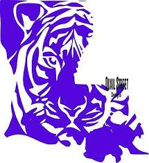 Geaux Lsu Tiger Louisiana State University Vinyl Decal Free Ship 924 Ebay