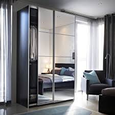mirrored wardrobe sliding doors ikea