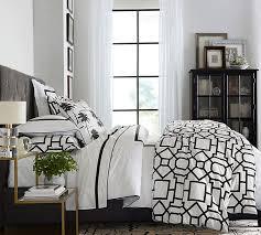 fillmore organic patterned duvet cover