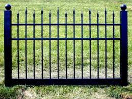 Black Vinyl Fence 4 Ft X 6 Ft Bsl 10 Posts Not Included Fence Material