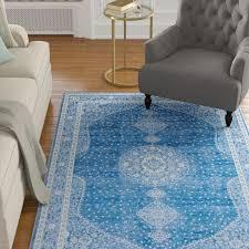 charlton home pat navy blue area rug