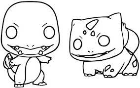 Kleurplaat Funko Pop Pokemon Charmander Bulbasaur 6
