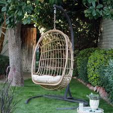 bali resin wicker hanging egg chair