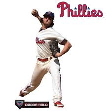 Philadelphia Phillies Aaron Nola Fathead 3 Pack Life Size Removable Wall Decal