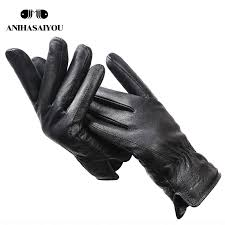 male winter simple mens leather gloves