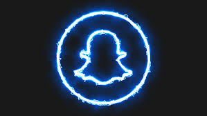 10+ Blue Neon Snapchat Logo Aesthetic Gif