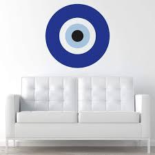 Amazon Com Mywonderfulwalls Blue Evil Eye Wall Sticker Decal Medium Home Kitchen