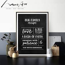 black poster letter canvas wall art