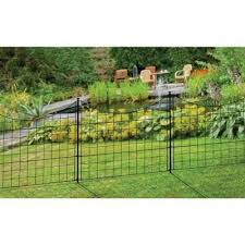 Zippity Black Metal Garden Fence 5 Pack Wf29001 The Home Depot Metal Garden Fencing Garden Fence Panels Metal Fence Panels