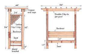 how to build a garden arbor bench