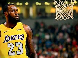 lebron james on lakers 23 jersey hd