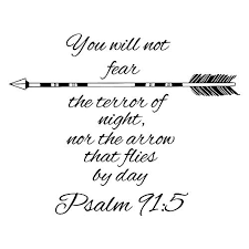 Wall Decals Quotes Psalm 91 5 Quote Bibl Buy Online In Guernsey At Desertcart