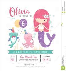 Bajo El Mar Sirena Para Ninos Invitaciones Fiesta De Cumpleanos