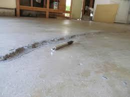s in a concrete garage floor when