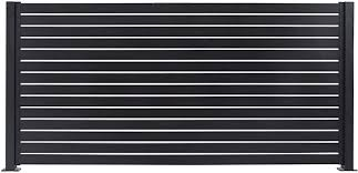 Stratco Aluminum Slat Fencing Kit Black 94 X 71 Horizontal Privacy Fence Low Maintenance And Long Lasting Amazon Co Uk Garden Outdoors