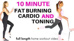 fat burning home cardio exercise