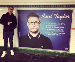 """Paul Taylor on Twitter: """"My face in the Paris metro to promote my ..."""