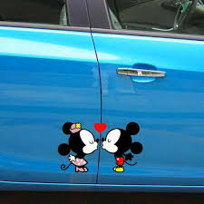 Mickey Mouse Minnie Mouse Kiss Fall In Love Car Window Vinyl Decal Sti Dorisue