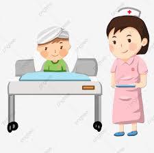 ممرض مخبر المريض في المستشفى الرسوم التوضيحية الرسوم المتحركة اليد