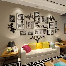 Amazon Com Crazydeal Family Tree Wall Decal Picture Frame Collage 3d Diy Stickers Decorations Art For Living Room Home Decor Gallery Large