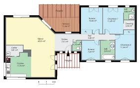plan de maison contemporaine de plain