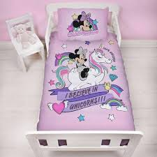 minnie mouse unicorn junior toddler bed
