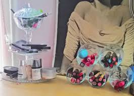 makeup storage diy mason jars