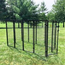 Shop Kennelmaster 8 Ft X 4 Ft X 6 Ft Welded Wire Kennel Kit Overstock 19977010