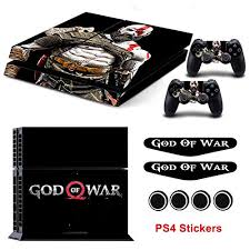 Amazon Com Ps4 Vinyl Skin God Of War Skin Decals With 2 Led Light Bar Sticker For Playstation 4 Console 2 Ps4 Controllers Protective Covers By Mr Wonderful Skin Video Games