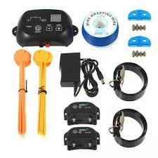 Kd660 Wired Rechargeable Pet Electronic Fence Fencing System 4 Dog Shock Collars 75 70 Picclick