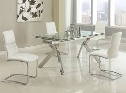 ella extension glass dining table by