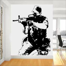 Soldier Wall Stickers Army Forces War Guaranteed Quality Vinyl Self Adhesive Wall Decal Company Office Window Door Decor Z277 Wall Stickers Aliexpress