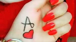 أجمل صور قلوب حب مع حرف A