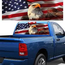 Car Styling Car Sticker American Flag Stars Rear Window Graphic Decal Sticker For Truck Suv Pick Up Truck Car Stickers Aliexpress