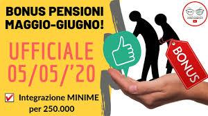 PENSIONI MINIME A 1.000€ BONUS PER 250.000 PENSIONATI MAGGIO ...