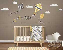 Nursery Wall Decal Kids Wall Sticker Kite Decal With Custom Etsy