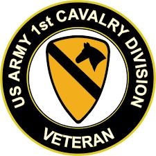 3 8 Inch U S Army Veteran 1st Cavalry Division Sticker Decal Walmart Com Walmart Com