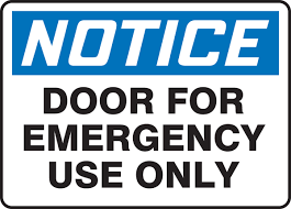 Home Decor Plaques Signs Exit For Emergency Use Only Notice Osha Ansi Label Decal Sticker 3pteb My