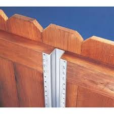 Master Halco 1 8 In X 3 1 8 In X 7 1 2 Ft Metal Fence Post 633663 The Home Depot Metal Fence Posts Diy Privacy Fence Metal Fence