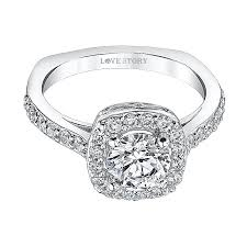 love story halo enement ring by love