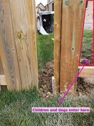 How Can I Close A Gap Between My Fence And My Neighbor S That S On His Side Of The Property Line Home Improvement Stack Exchange
