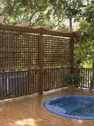 38 Deck Privacy Ideas The Deck Contains All The Elements Of The Typical Pitch But With A Couple Tweaks It Can Backyard Privacy Deck Privacy Hot Tub Privacy
