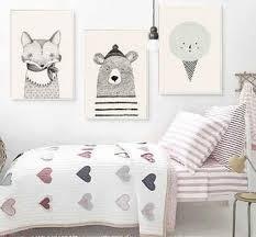 Nursery Wall Decor Canvas Prints Cute Animal Wall Art
