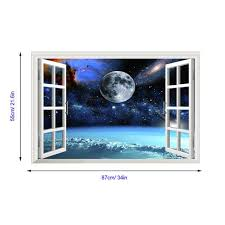 3d Outer Space Window Wall Decals The Decal House