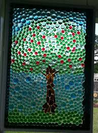 my apple tree faux stained glass window