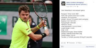 wawrinka s real racquet specs talk tennis